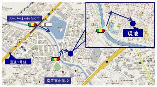 18082526T様邸現見チラシ(地図)